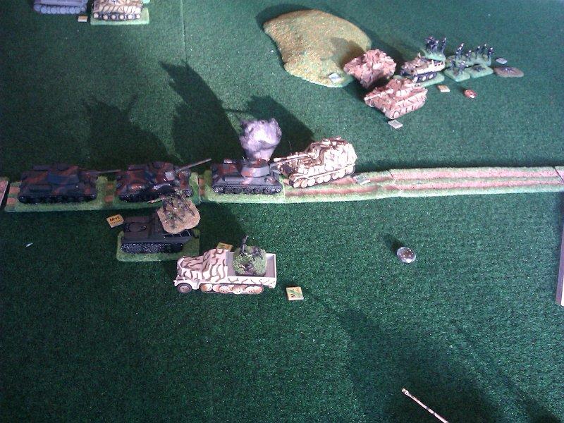 Leur sortie héroïque est stoppée par l'intervention des Tigre I.