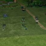 Les troupes blindés progressent, les chars couvrant le Génie. Un premier Tigre a sauté sur une mine AC