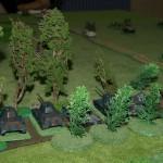 Les T34/76 étaient en embuscade dans le petit bois, et ouvrent le feu sur les Tigres. Peu de dégats...